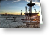 Missouri Photographer Greeting Cards - The Fountainhead Greeting Card by Jane Linders