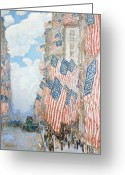 Patriotism Painting Greeting Cards - The Fourth of July Greeting Card by Childe Hassam