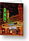 Photographers Ellipse Greeting Cards - The Fox Theater Atlanta Ga. Greeting Card by Corky Willis Atlanta Photography