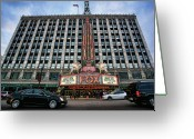 Detroit Rock City Greeting Cards - The Fox Theatre in Detroit Welcomes Charlie Sheen Greeting Card by Gordon Dean II