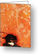 Spraypaint Greeting Cards - The Frailty of Female Fundamentals in a Fragile State Greeting Card by Iosua Tai Taeoalii