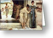 Nude Bath Greeting Cards - The Frigidarium Greeting Card by Sir Lawrence Alma-Tadema