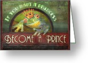 Frog Prince Greeting Cards - The Frog Prince Greeting Card by Joel Payne