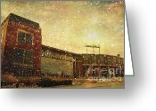 Stadium Greeting Cards - The Frozen Tundra Greeting Card by Joel Witmeyer