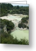 Sight Seeing Greeting Cards - The Frying Pan Flat, New Zealand Greeting Card by Tony Camacho