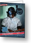 Ryan Jones Art Greeting Cards - The Furies - Blue Fury - The Warriors Movie Greeting Card by Ryan Jones
