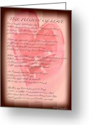 Nature Fusion Greeting Cards - The Fusion Of Love Poem Greeting Card by Debra     Vatalaro