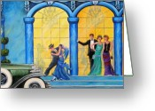 Party Greeting Cards - The Gala Greeting Card by Sharon Kearns