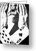 Disbelief Greeting Cards - The Gambler Greeting Card by Omphemetse Olesitse