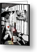 Brushdecor Greeting Cards - The Gangster Greeting Card by Jose Roldan Rendon