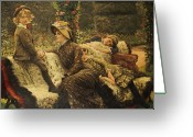 James Jacques Joseph Greeting Cards - The Garden Bench Greeting Card by Tissot