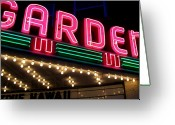 Movie Theater Greeting Cards - The Garden Frankfort MI Greeting Card by Michelle Calkins