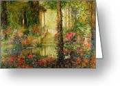 Wagner Greeting Cards - The Garden of Enchantment Greeting Card by Thomas Edwin Mostyn