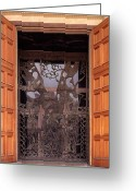 All Tree Greeting Cards - The Garden of Gethsemane Church Doors Greeting Card by Thomas R Fletcher