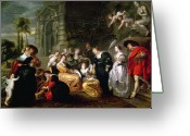 Rubens Painting Greeting Cards - The Garden of Love Greeting Card by Peter Paul Rubens