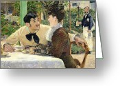 Engagement Painting Greeting Cards - The Garden of Pere Lathuille Greeting Card by Edouard Manet