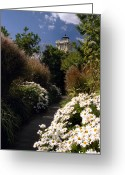 Lighthouse Home Decor Greeting Cards - The Gardens At Hereford Greeting Card by Skip Willits