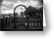 Analogue Greeting Cards - The Gate Greeting Card by Paul Anderson