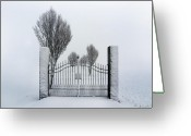 Fyn Greeting Cards - The Gates to Nowhere Greeting Card by Robert Lacy