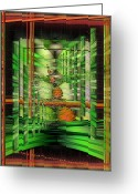Abstract Greeting Cards - The Gateway To Broccoli Greeting Card by Mimulux patricia no