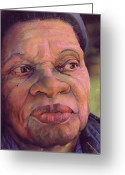 Family Pastels Greeting Cards - The Gaze Of Mother Witt Greeting Card by Curtis James