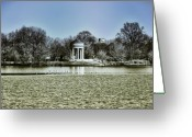 Lake Photographs Greeting Cards - The Gazebo at Franklin Delano Roosevelt Park Greeting Card by Bill Cannon