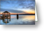 Potomac River Greeting Cards - The Gazebo  Greeting Card by JC Findley