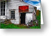 Rural Decay  Digital Art Greeting Cards - The General Store impasto Greeting Card by Steve Harrington