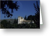 Aristocracy And Royalty Greeting Cards - The Generalife, Summer Palace Greeting Card by Taylor S. Kennedy