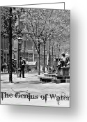 Store Fronts Greeting Cards - The Genius of Water 1906 Greeting Card by Padre Art