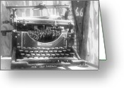 Typewriter Greeting Cards - The Ghost writer Greeting Card by Wayne Stadler