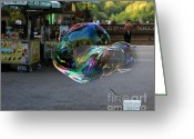 The Rocks Greeting Cards - The Giant Bubble at Bethesda Terrace Greeting Card by Lee Dos Santos