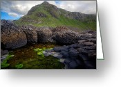 Hexagons Greeting Cards - The Giants Causeway - Peak and Pool Greeting Card by Inge Johnsson