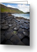 Hexagons Greeting Cards - The Giants Causeway - Staircase Greeting Card by Inge Johnsson