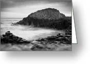 Hexagons Greeting Cards - The Giants Cove Greeting Card by Inge Johnsson