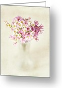 Vase Of Flowers Greeting Cards - The Gift Greeting Card by Lisa Russo