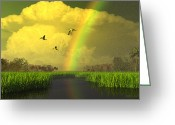 Everglades Greeting Cards - The Gift of Light Greeting Card by Dieter Carlton