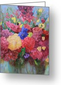 Flower Still Life Prints Painting Greeting Cards - The Gift Greeting Card by Sharon Mason