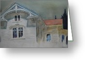 Western Massachusetts Greeting Cards - the Ginger Bread House Greeting Card by Len Stomski