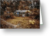 Haunted Home Greeting Cards - The Girl Left Behind Greeting Card by Skip Nall