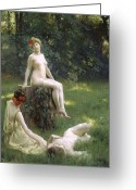Nudes Greeting Cards - The Glade Greeting Card by Julius Leblanc Stewart