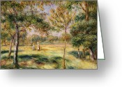 Pierre Renoir Greeting Cards - The Glade Greeting Card by Pierre Auguste Renoir