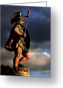 Protector Greeting Cards - The Gladiator Greeting Card by Barbara  White