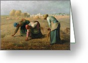 Labour Greeting Cards - The Gleaners Greeting Card by Jean Francois Millet
