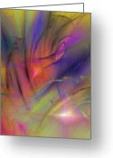 New Age Art Greeting Cards - The Gloaming Greeting Card by David Lane