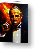 Organized Crime Greeting Cards - The Godfather Greeting Card by Pamela Johnson