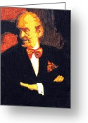 Arms Folded Greeting Cards - The Godfather Vladimir Horowitz Revisited Greeting Card by Sheri Parris