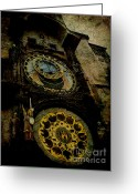 Orloj Greeting Cards - The Gods of Time Greeting Card by Lee Dos Santos