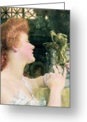 Alma-tadema Greeting Cards - The Golden Hour Greeting Card by Sir Lawrence Alma-Tadema