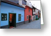 Most Photo Greeting Cards - The Golden Lane Greeting Card by Mariola Bitner